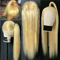 100% Real Remy Indian Human Hair Wigs 360 Lace Front Wig Blonde Wavy Pre Plucked