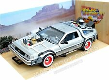 DELOREAN BACK TO THE FUTURE 1:24 Scale Diecast Car Model Die Cast Cars Models