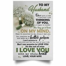 To My Husband Poster Ebay