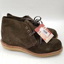 Mens Chippewa Milford Chukka Boots Shoes Green/Brown Suede Vibram 10 E