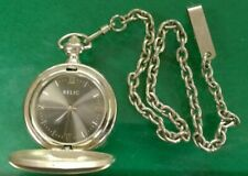 Working Relic Quartz Pocket Watch with Fob Chain