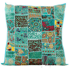"24"" Extra Large Blue Gypsy Throw Pillow for Couch, Decorative Accent Sofa Pillow"