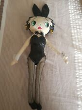 Betty Boop cloth doll 16-inch in black bunny outfit w/ ears and black stockings