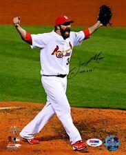Jason Motte SIGNED 8x10 Photo + LAST OUT!  Cardinals PSA/DNA AUTOGRAPHED