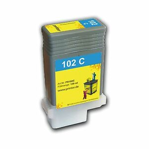 PFI-102 C 130ml Tintenpatrone hochwertig aufgearbeitet