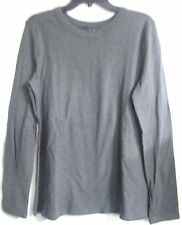 LADIES CENTRAL PARK WEST CHARCOAL LS ROUND NECK KNIT TOP SIZE MED. # 163-TOP