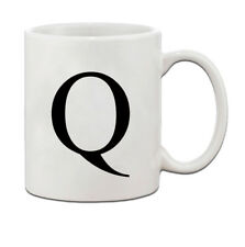 """Q "" Initial Monogram Personalized Letter Q Ceramic Mug Coffe Cup 11 oz"