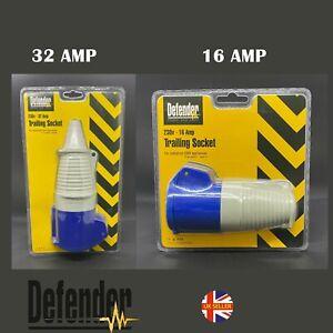 16A or 32A 240V 3Pin Blue Industrial Plug Sockets Camping Caravan Industrial UK
