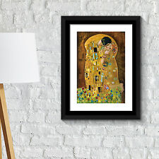 Wall Decoration Frames Painting Poster - The Kiss by Gustav Klimt  Art Décor