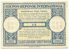 1960s GB International Reply Coupon 6d mint unused