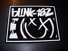 BLINK 182 California Black Smiley Rectangle Logo Sticker Decal Skate skateboard