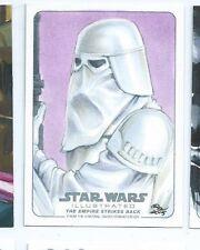 2015 Star Wars Illustrated Empire Strikes back sketch Rhiannon Owens