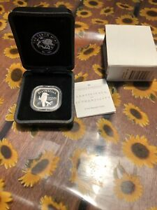 Square Kookaburra Silver Coin 2004