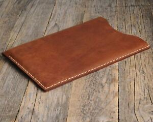 iPad Case PERSONALIZED Waxed Aged Leather Cover Sleeve Handsewn Rough Style Bag