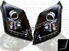 10-14 Cadillac SRX Black Projector LED Strip Headlights 2010 2011 2012 2013 2014