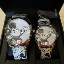 NWT Disney Mickey Mouse His & Her Watch Set Comic Band