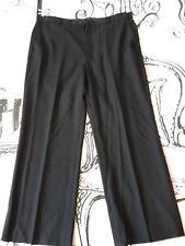 Mens Size 34 - 40 S Black Expandable Waist Trousers Formal Work W40 W38 W36 L27