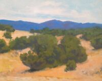 Santa Fe Southwest Realism Landscape OIL PAINTING ART IMPRESSIONIST Original