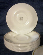 4 CORNING Corelle Coffee Teacup Saucers BROWN Stripe Melody  Indian Summer USA