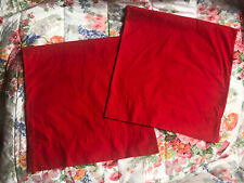 *Pair Vintage RALPH LAUREN  *KING RED Cotton PILLOWCASES Excellent! Blue LABEL