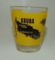 Vintage Aruba Map Souvenir Shot Glass
