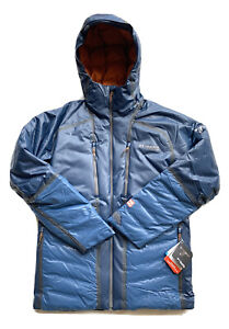 $650 Columbia Titanium OutDry Ex Diamond Piste Down Blue Jacket Men's Size Large