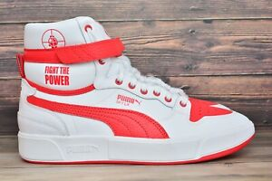 Puma Sky LX Public Enemy White Red Casual Shoes 374538 01 Mens Size 11