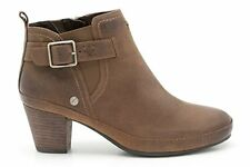 Clarks K Ladies Musky Marlo Tan Leather Ankle Boots Size UK 8 SALE