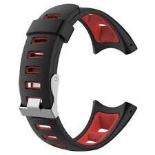 Silicone Bracelet Strap Band for Suunto Quest M1 M2 M4 M5(Black+Red) Replacement