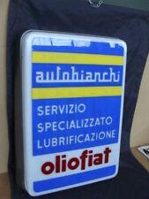 Insegna Autobianchi Servizio Olio Fiat per Bianchina Primula 112 Abarth old sign