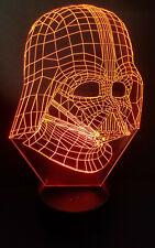 3D Laser Engraved Star Wars Darth Vader Acrylic LED Color Changing Night lite