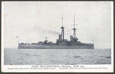 Royal Navy Postcard. Battleship HMS Bellerophon at Sea. Vintage Printed Postcard