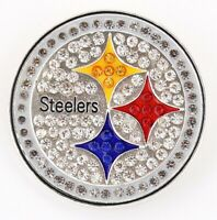 PITTSBURGH STEELERS, Pin, Brooch, Bling, SPARKLE & SHINE, NFL Football