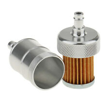 Motorcycle ATV Quad Inline Fuel Gas Filter 1/4 inch 6mm Silver