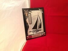 Vintage Glass Mirror  Thermometer Working Condition Advertising Furniture Boat