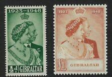 GIBRALTAR :1948 Silver Wedding set  SG 134-5 mint