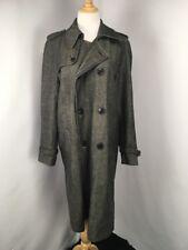 Dries Van Noten Mac Trench Coat Jacket Sz Large L Double Breasted Herringbone