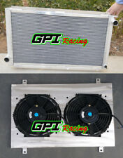 2 row Aluminum Radiator+Shroud+fans for 1992-2000 SUBARU IMPREZA WRX GC8 STI MT