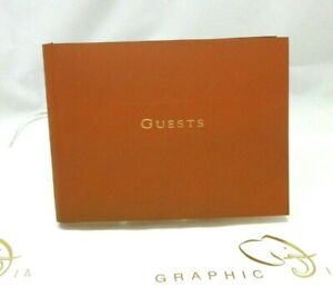 Graphic Image Guest Book Leather Bound Soft Cover British Tan