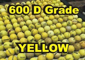 "600 ""D"" Grade Used YELLOW Range Balls for Practice"