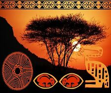 AFRICAN SUNSET TRIBLE COMPUTER MOUSE PAD  9 X 7