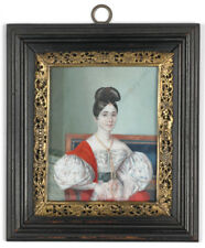 """L. A. Cour """"Princess Alvejais Juares"""", fine miniature!, ca.1830"""