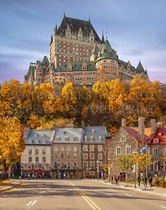 8x10 photo Quebec City Canada, historic Château Frontenac cultural heritage site