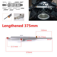 1X Motorcycle Lengthened 375mm CNC Aluminum Steering Direction Damper Stabilizer