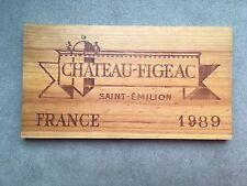 ESTAMPE -FACADE CAISSE DE VIN EN BOIS - CHATEAU FIGEAC -1989