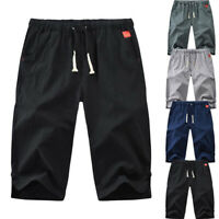 Men's Sports Casual Shorts Exercise Fitness Workout Sweat Pants 3/4 Trousers