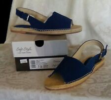 "NEW Hush Puppies ""LEAH"" Soft Style Women's Summer Sandals. Navy Blue"