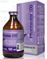 Antibiotic Cats Dogs Pigs Cattle Poultry Tylosin Tartrate 100 ml Pharmastar 200