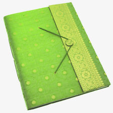 Fair Trade Handmade Extra Large Sari Photo Album Scrapbook Green 2nd Quality