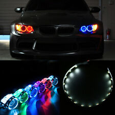2x Car White LED Lights Devil Eyes Demon For Auto Headlight Projector Lens Ring